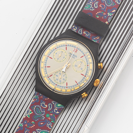 Swatch, chrono, award, armbandsur, kronograf, 37 mm.