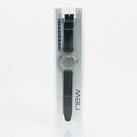 Swatch, automatic, nine three, wriswatch, 37 mm.