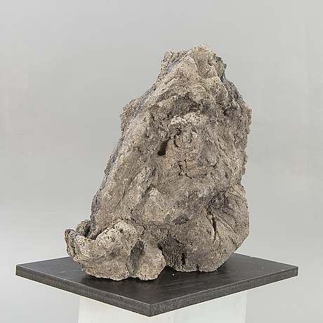 Marilyn hamilton gierow, a signed cement sculpture.