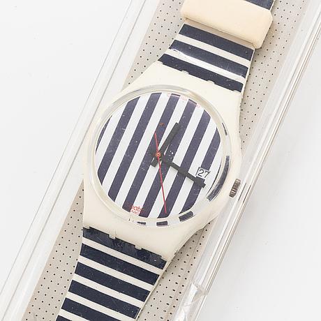 Swatch, deauville, wristwatch, 34 mm.
