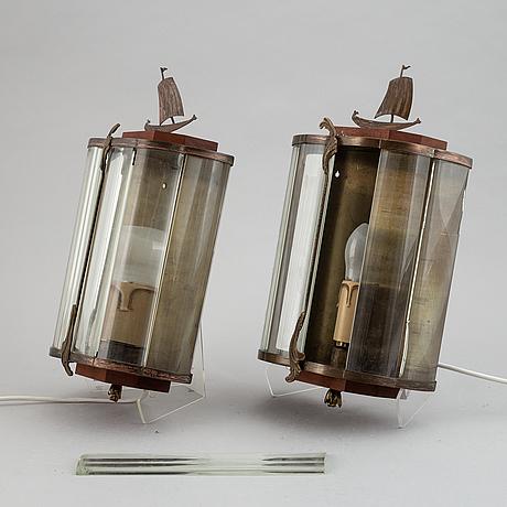 A pair of wall lights, swedish modern, mid 20th century.