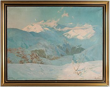 Julius Olsson, oil on canvas, signed.