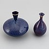 Sven wejsfelt, two stoneware vases from gustavsbergs studio.