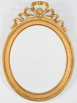 A Gustavian style mirror, 20th Century.