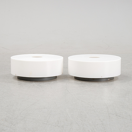 Uno & östen kristiansson, a pair of ceiling lights, second half of the 20th century.