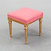 A gustavian tabouret, decond half of the 18th century.
