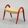 A birch stool, mid 20th century.