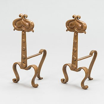 A pair of 1920/1930's fire dogs.