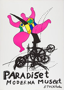 Niki de Saint Phalle & Jean Tinguely, after. An exhibition poster, silk screen.