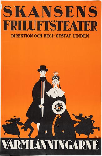 Einar nerman, affisch, litografi, 1926.