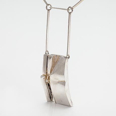 """Björn weckström, """"bird man"""", a sterling silver necklace. lapponia 1971."""