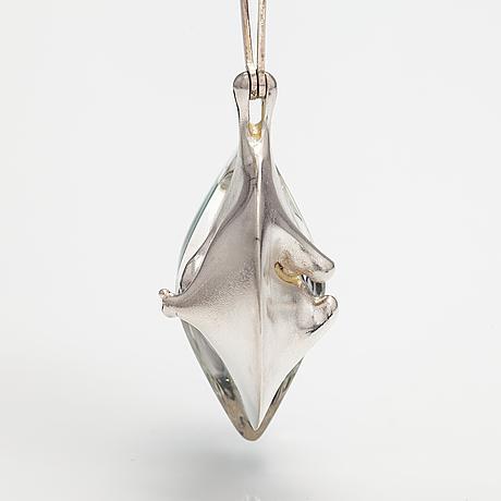 "Björn weckström, ""kilimanjaro"", a sterling silver and acrylic necklace . lapponia 1974."