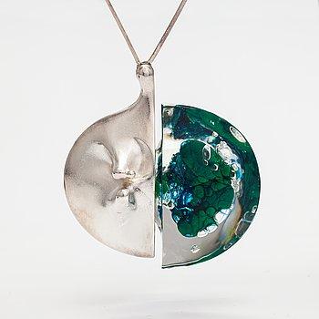 "Björn Weckström, ""Kilimandjaro"", a sterling silver and acrylic necklace . Lapponia 1974."