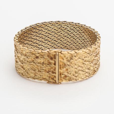 Armband, 14k guld. importstämplat kultakönni, helsingfors 1970.