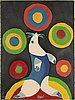 Karel appel, color wood-engraving, signed, dated -85 and numbered 104/130.