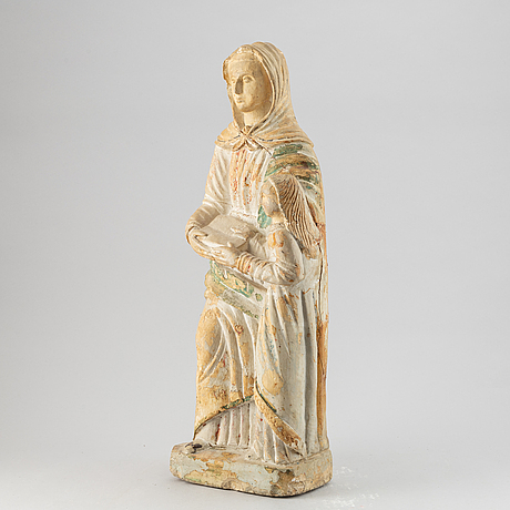Sculpture, patinated plaster / casting compound, 20th century.