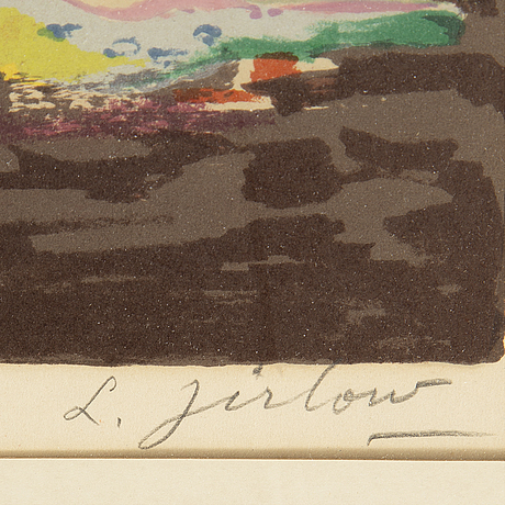 Lennart jirlow, lithograph in colors, signed and numbured 299/310.