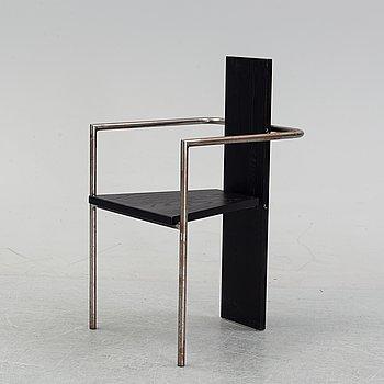 A 'Concrete' armchair by Jonas Bohlin for Källemo, designed 1980.