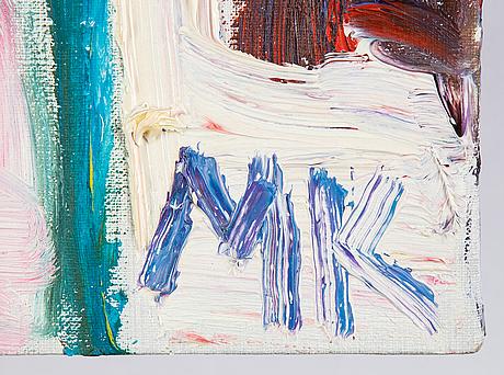 Mauritz karström, oil and acrylic on canvas, monogram.