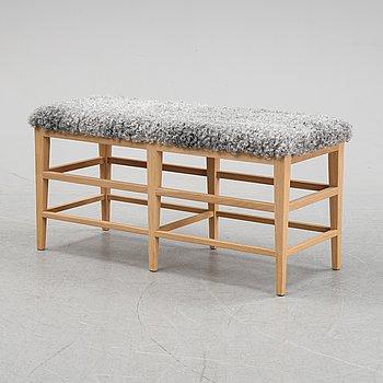 A 'Fårö' oak bench, GAD.