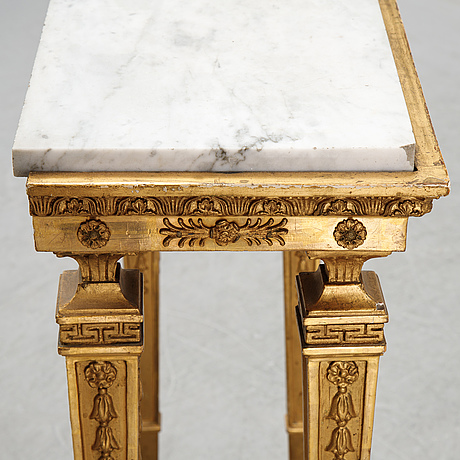 An early 19th century console table.