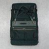 Louis vuitton, a green canvas and taiga garment bag.