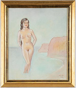 Einar Jolin, oil on canvas, signed and dated 1956.