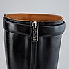 Chloé, a pair of black leather 'serina' boots, size 36½.