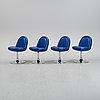 A set of four chairs from johansson design.