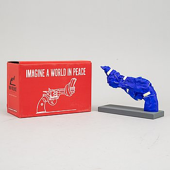 Carl-Fredrik Reuterswärd/ The Non-Violence Project Foundation, a polyresin sculpture, 2017, Certificate numbered 4/30.