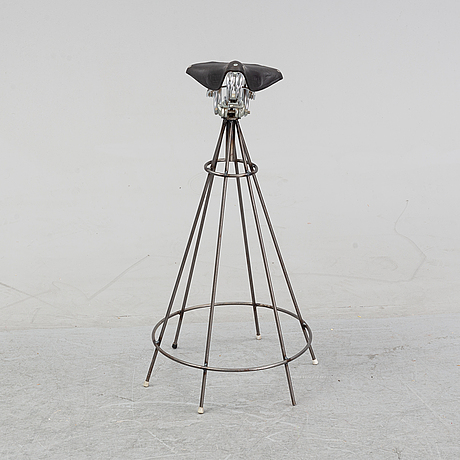 A bicycle seat stool, second half of the 20th century.