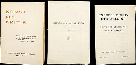 Pamphlets, magazines etc (8), gösta adrian-nilsson.