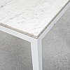 A marble top table, 21th century.