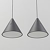 Michael anastassiades, a pair of 'string light cone' ceiling lights, flos, italy.