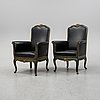 A pair of lounge chairs, first half of the 20th century.