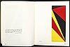 """""""konkret realism, baertling, jacobsen, mortensen"""", catalog signed 94/200, with silkscreen prints, stockholm 1956."""