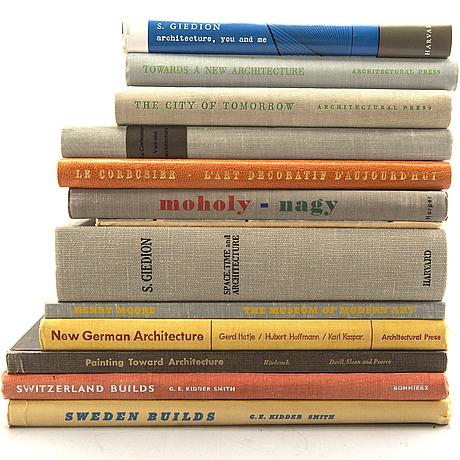 Architecture, townplaning etc, 13 volumes.
