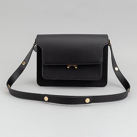 Marni, a black leather 'trunk' cross body bag, 2019.