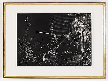 Pablo Picasso, etching with aquatint, signed and numbured 15/50.