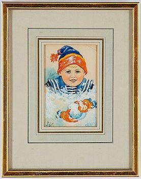 Jenny Nyström, watercolour, signed,