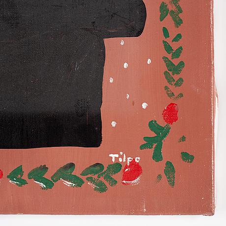 Fruls tilpo, oil on canvas, signed.