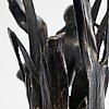 Maljakkopari, hopeoitu metalli, art nouveau, wmf, 1900-luvun alku.