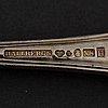 """Bestickservis, 120 delar, silver, """"hallbergsmodellen kungsholm"""", mestadels cg hallberg, stockholm."""