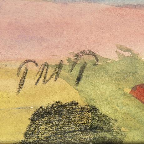 Primus mortimer pettersson, watercolor, signed.