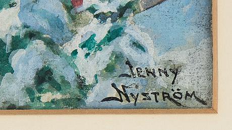 Jenny nyström, akvarell, signerad.