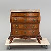A 19th century rococo style chest of drawers.