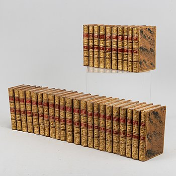 With 101 engraved plates from travels, including those of Cook, 1780-1801.