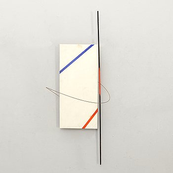 Axel Knipschild, a signed sculpture and dated 1977.