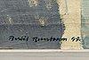 Bertil berntsson, olja på duk, signerad och daterad 1949.