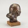 Helge högbom, skulptur signerad och numrerad 8/10 patinerad brons.